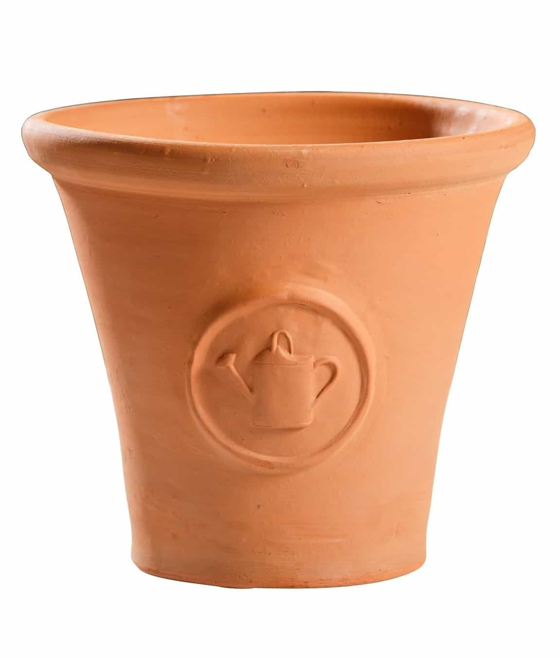 Flowerpot with watering can
