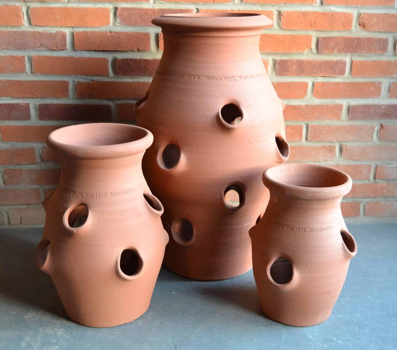 strawberry pots